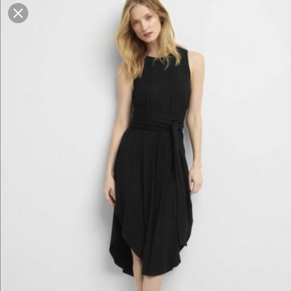 GAP Dresses & Skirts - NWT adorable black wrap dress from Gap XL